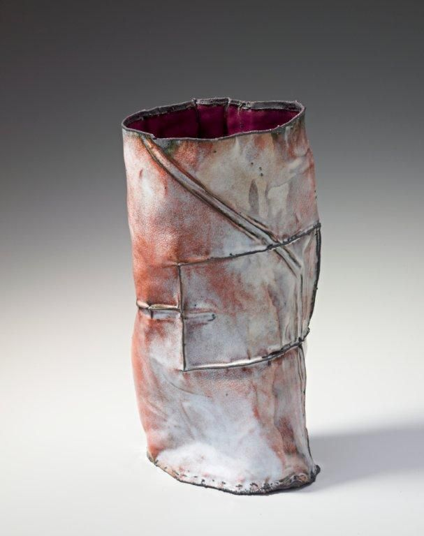 June Schwarcz Vessel 2461, 2012 Copper, enamel 4 X 6 X 10 1/2""