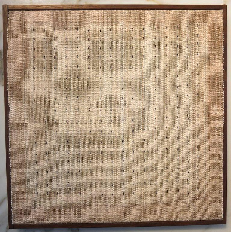 "Kay Sekimachi Dots II, 2011 Linen, Warp (DXE) 11 1/2 X 11 3/4"""