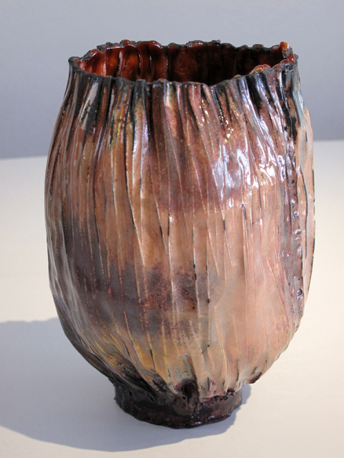 June Schwarcz Vessel 2496, 2013 Copper, enamel 6 X 6.5 X 8""