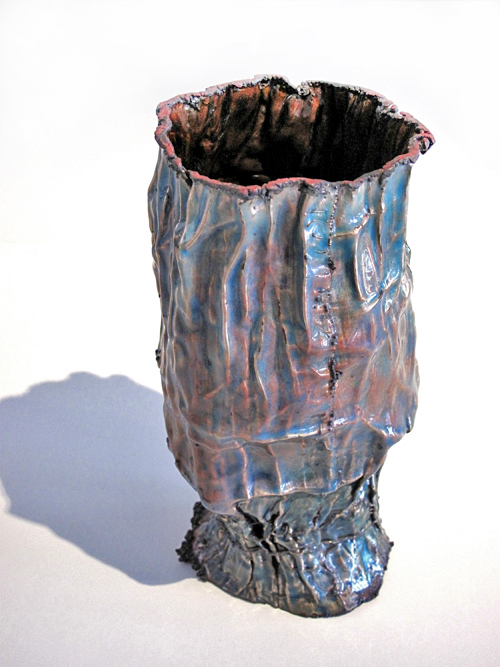 June Schwarcz Vessel 2383, 2009 Copper, enamel 4 x 4 1/2 X 7""