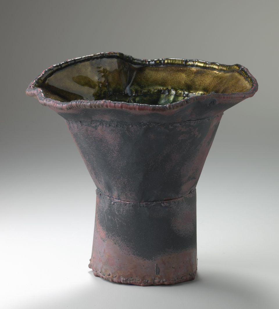 June Schwarcz Vessel 2376, 2012 Copper, enamel 8 1/2 X 8 C 7 1/4""