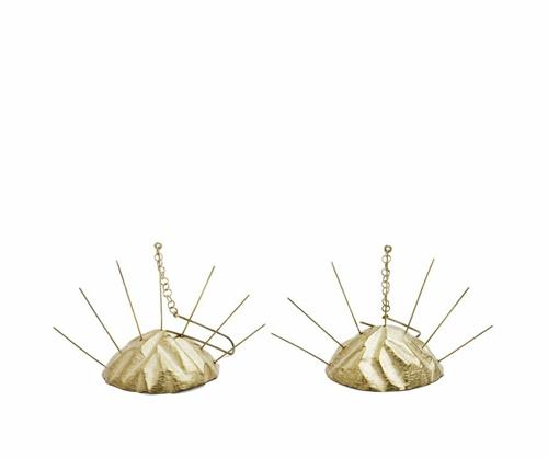 Beate Klockman Earrings, Dubble Sunrise, 2011 Gold