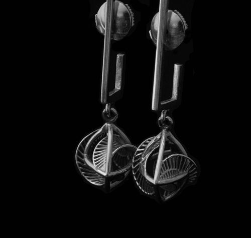 Hella Ganor Earrings #2153 Sterling Silver