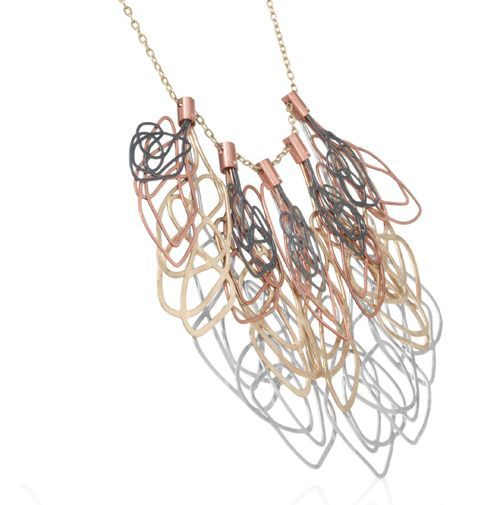 Claudia Correa Necklace: Rochard 1 Sterling silver, copper, brass, patina 20 x 12 cm