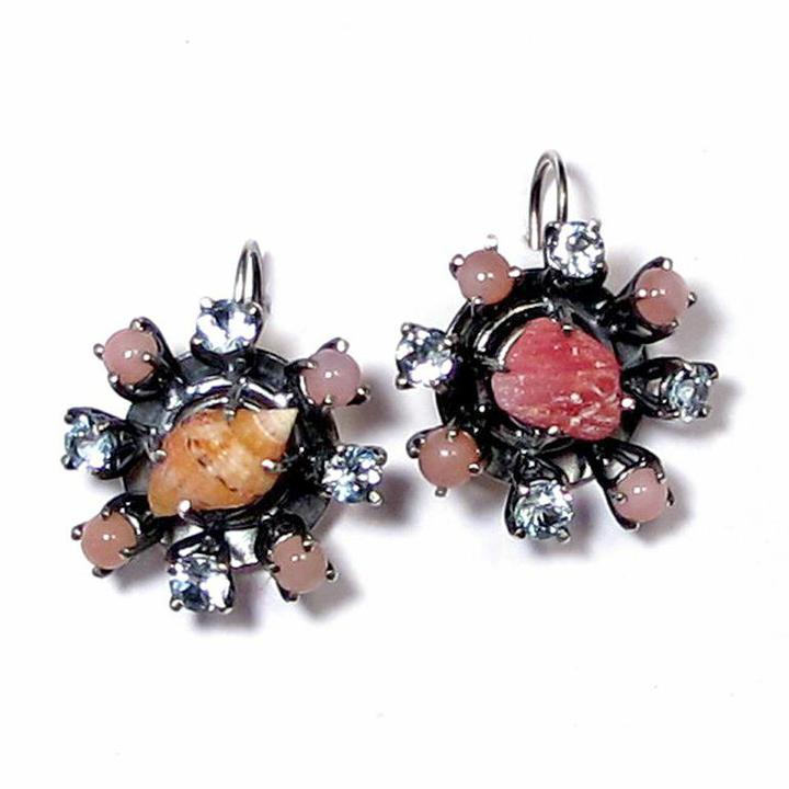 JG_Rosa Shell Circulo Pendiente_Earrings