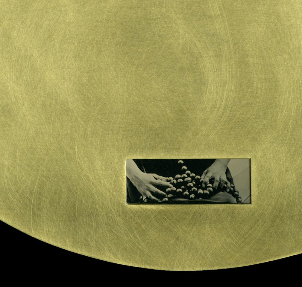 Caroline Gore, Detail of Collide (performed), Tintype, brass, 8 x 10 inches, 2013, photo: Mary Whalen